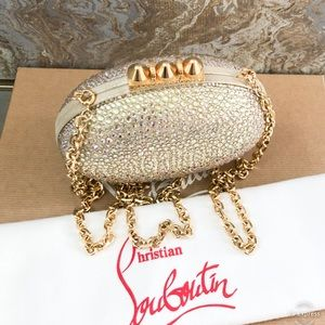 Christian Louboutin Bags - Christian Louboutin Strass Crystal Mina Clutch